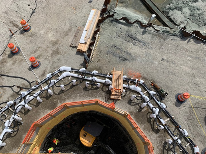 Ground freezing being performed for a NY tunnel project.