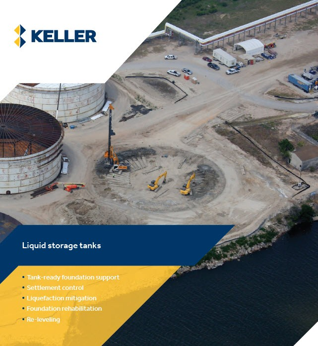 First page of the Keller storage tanks brochure