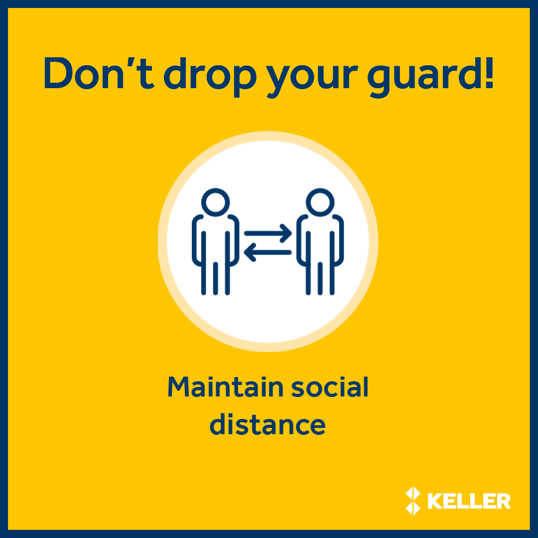 Maintain social distance graphic