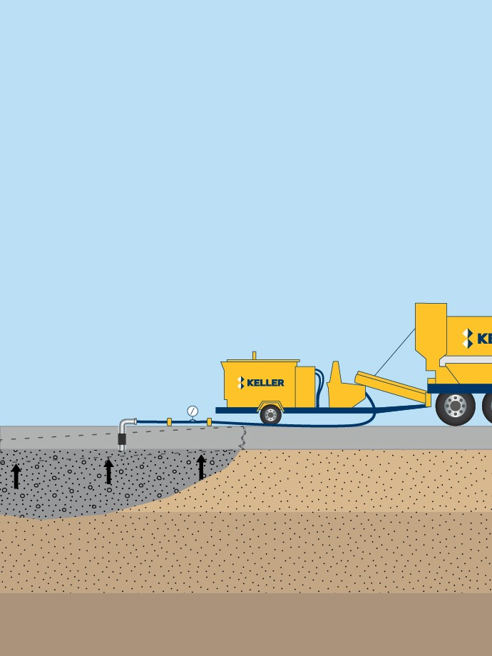 Slab jacking illustration